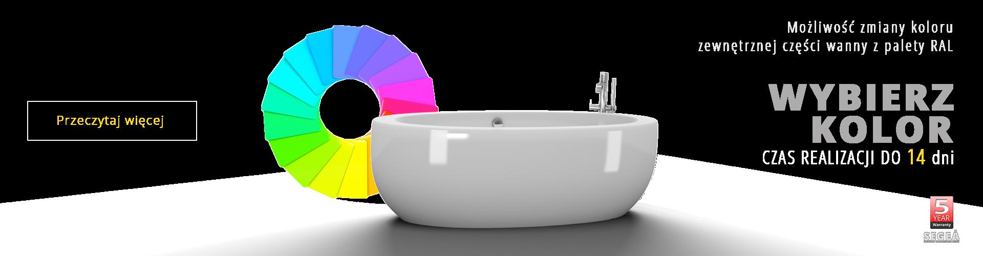 Wybierz wannę SEGEA w kolorze